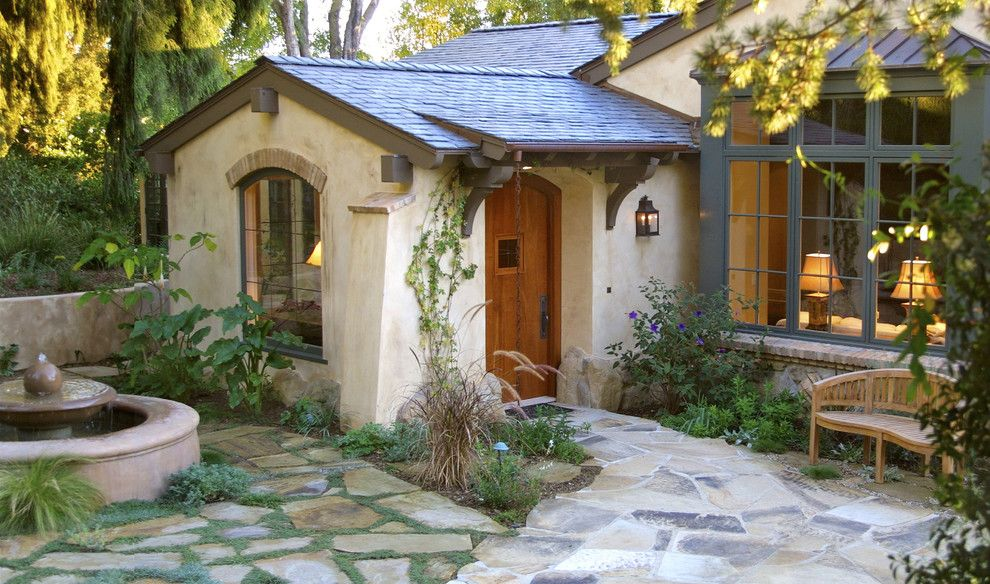 Montecito California for a Traditional Entry with a Stone and Exterior Entrance by Tom Meaney Architect, Aia