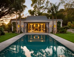 Montecito California for a Traditional Pool with a Cabana and Hollywood Regency, Montecito by Maienza - Wilson Architecture + Interiors