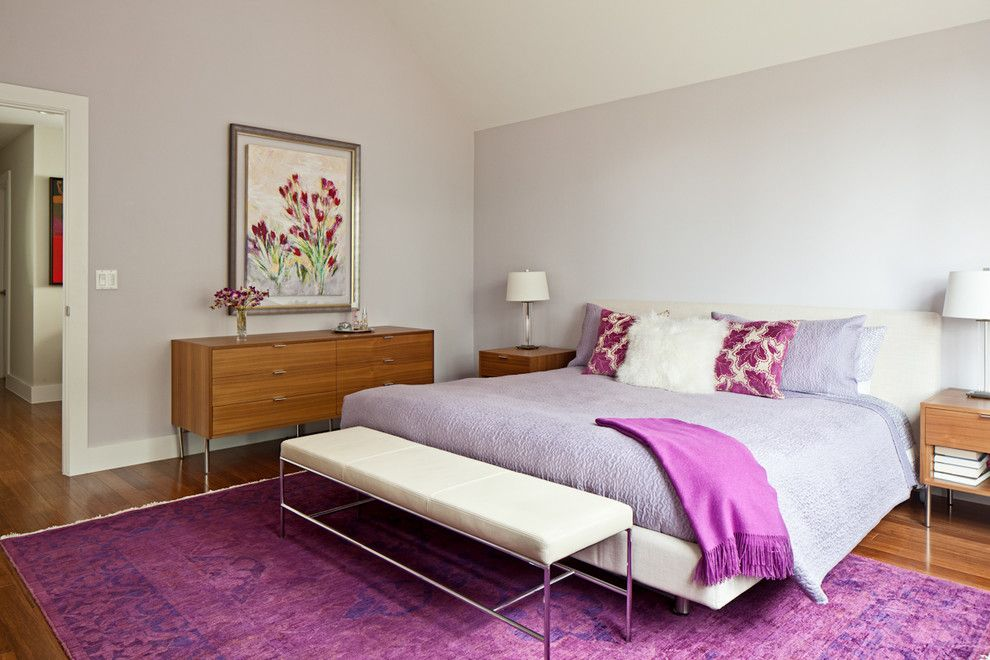 Moores Furniture for a Contemporary Bedroom with a Wood Veneer and Forest Trail by Blink.is Design