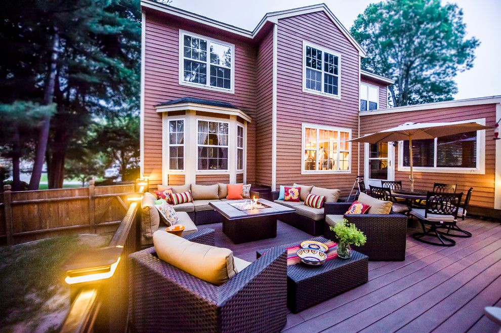 Moores Furniture for a Contemporary Deck with a Fire Feature and Patios and Decks by Razzano Homes and Remodelers, Inc.