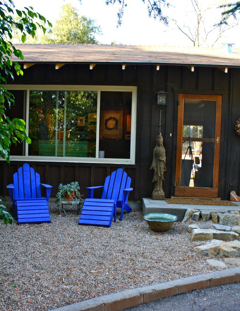 Moores Furniture for a Eclectic Exterior with a Gable Roof and Front Exterior by Shannon Malone