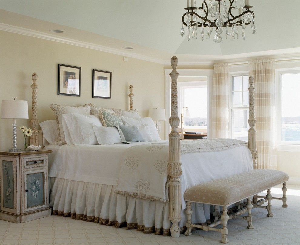 Moores Furniture for a Shabby Chic Style Bedroom with a Elegant Homes and Waterfront Retreat by Nancy Mclaughlin Interiors