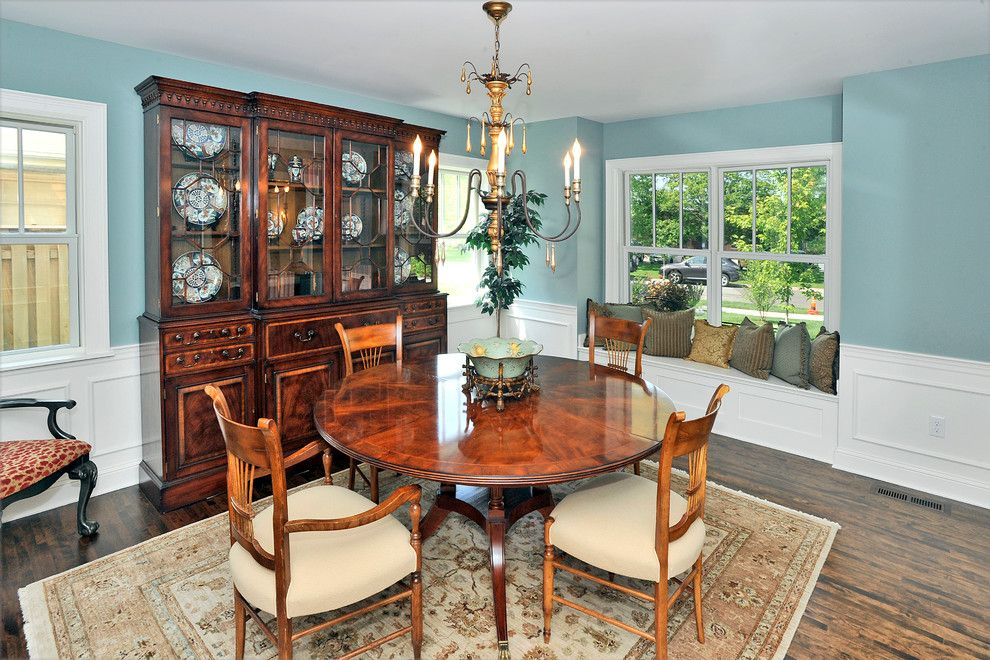Moores Furniture for a Traditional Dining Room with a Wainscotting and Window Seat and Inglewood Avenue by Residential Renewal, Inc.