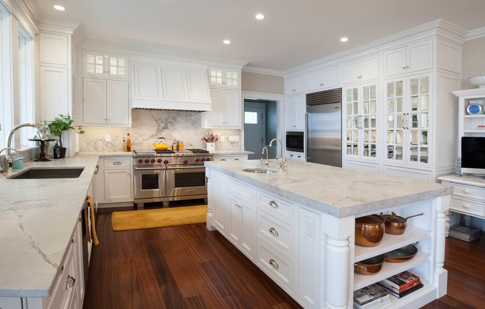 Morningstar Storage for a Traditional Kitchen with a Kitchen Island and Kitchens by Morningstar Stone & Tile