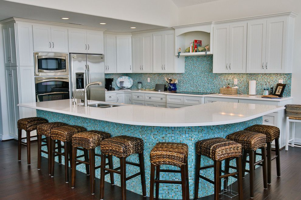 Mosaiq for a Beach Style Kitchen with a Under Cabinet Lighting and Beach House by J.m. Froehler Construction