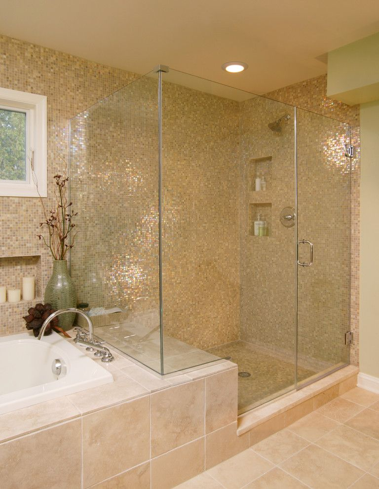 Mosaiq for a Transitional Bathroom with a Candles and Modern Bathroom by Rachelreider.com