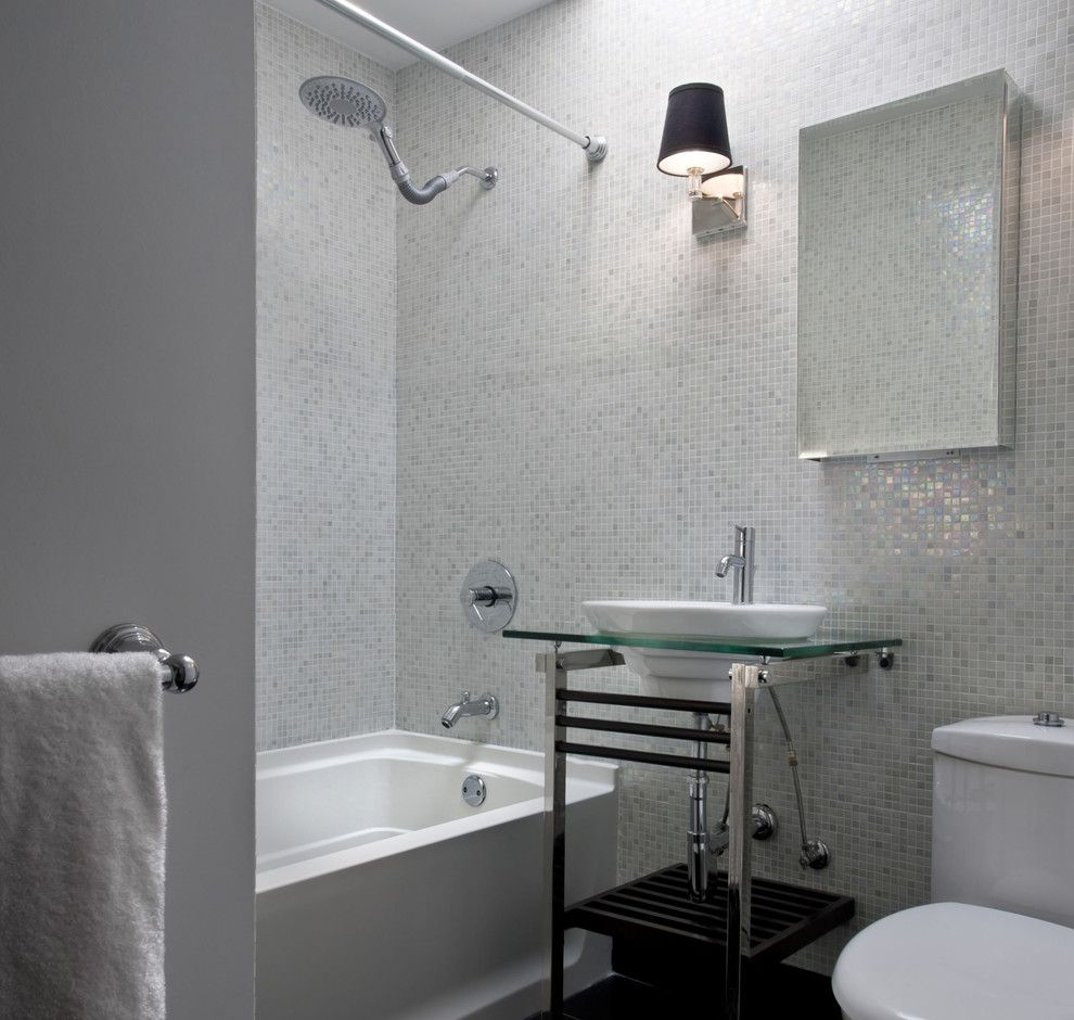 Mosart for a Contemporary Bathroom with a Wall Sconce and Supon Phornirunlit/ Naked Decor by Supon Phornirunlit / Naked Decor