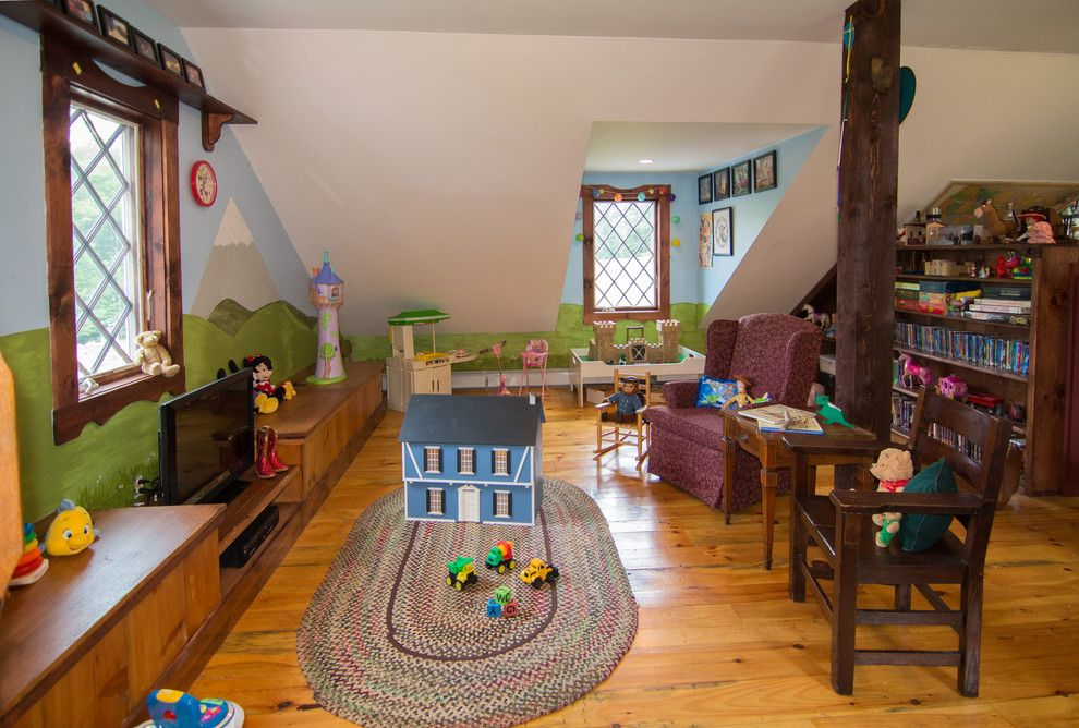 Mousing Around for a Eclectic Kids with a Playroom and Complete Home Construction   Templeton, Ma by C.m. Chartier Contracting