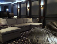 Movie Theater Clarksville Tn for a Contemporary Home Theater with a Home Theater Design and Clarksville Home Theater by Molior Construction