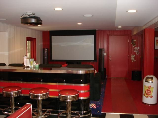 Movie Theater with Couches for a Eclectic Home Theater with a in Hoe Movie Theater and Home Theater Designs by Bars and Booths
