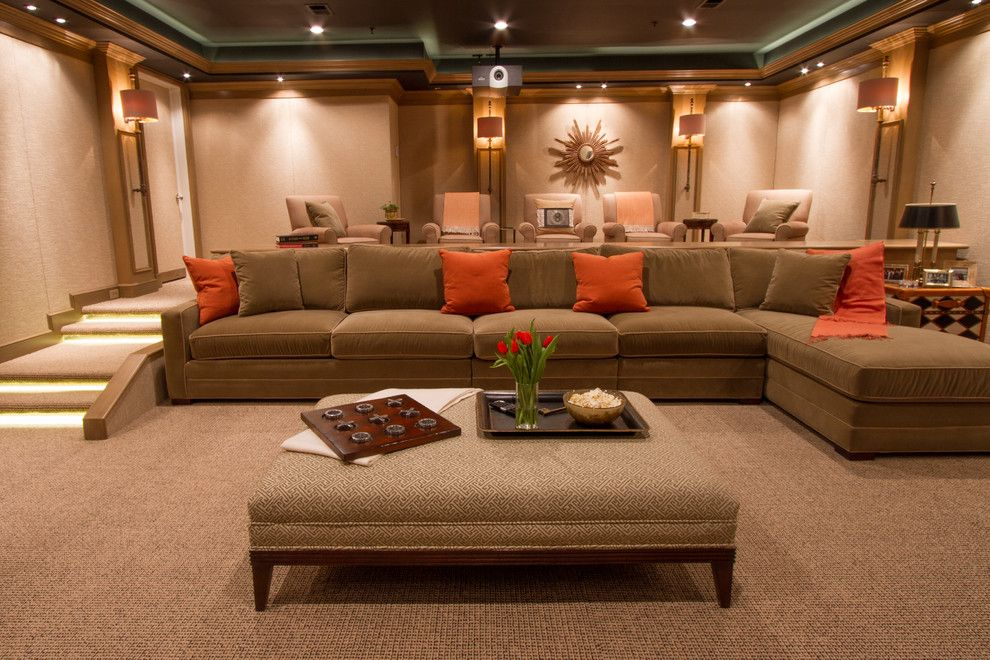 Movies Bethesda for a Contemporary Home Theater with a Family Room and Bringing the Movies Home by Bethesda Systems