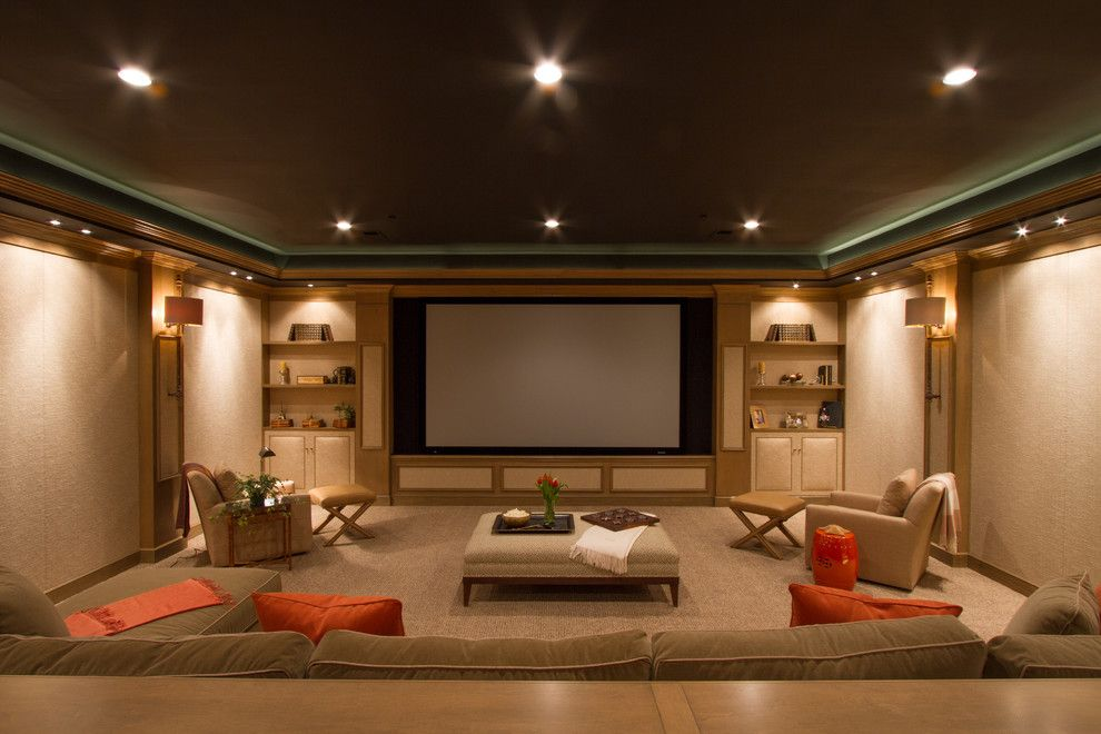 Movies Bethesda for a Contemporary Home Theater with a Living Room and Bringing the Movies Home by Bethesda Systems