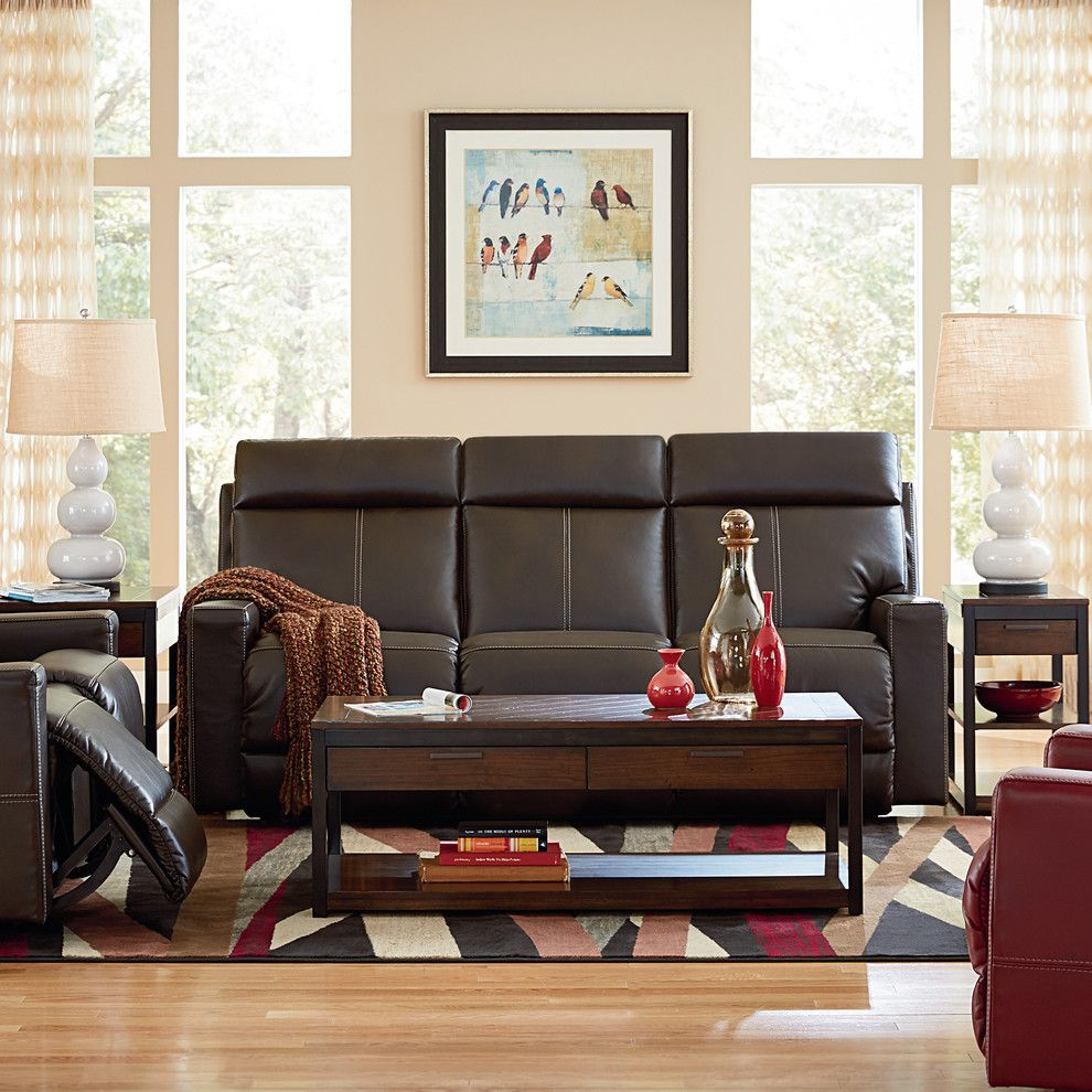 Movies Bethesda for a Modern Living Room with a Beige Walls and La-Z-Boy by La-Z-Boy