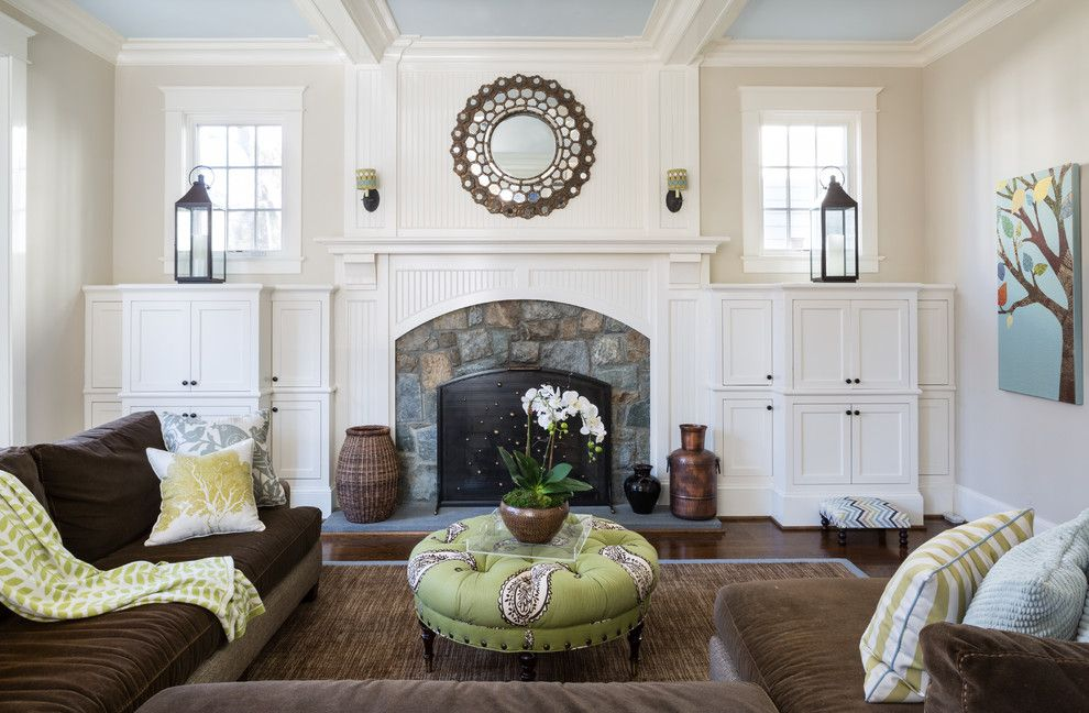 Movies Bethesda for a Traditional Family Room with a Cozy and Bethesda Residence by Homegrown Decor, Llc