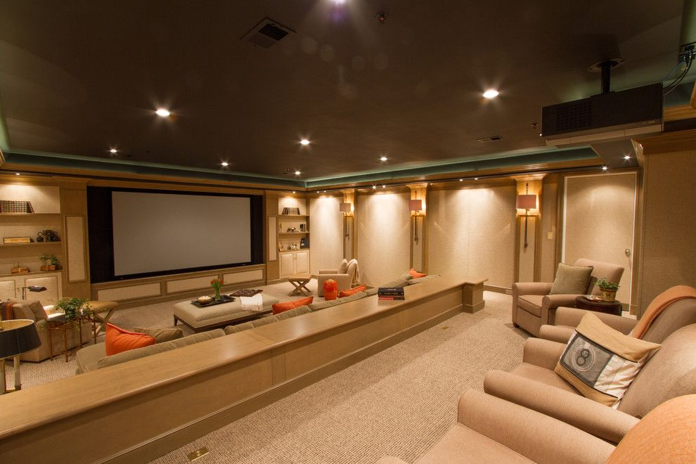 Movies Bethesda for a Traditional Home Theater with a Family Room and Bringing the Movies Home by Bethesda Systems