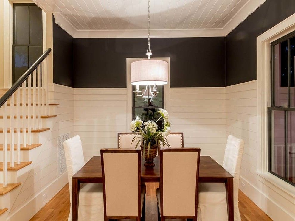 Mt Bachelor Village for a Beach Style Dining Room with a Wood Table and Old Village Mt. Pleasant by Saussy Burbank
