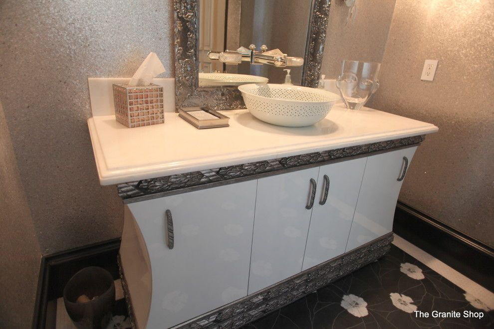 Munire for a Contemporary Bathroom with a Contemporary and Bathroom Vanities by the Granite Shop