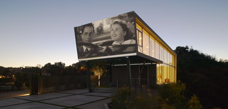Murfreesboro Movie Theater for a Modern Exterior with a Window and Skyline Residence by Belzberg Architects