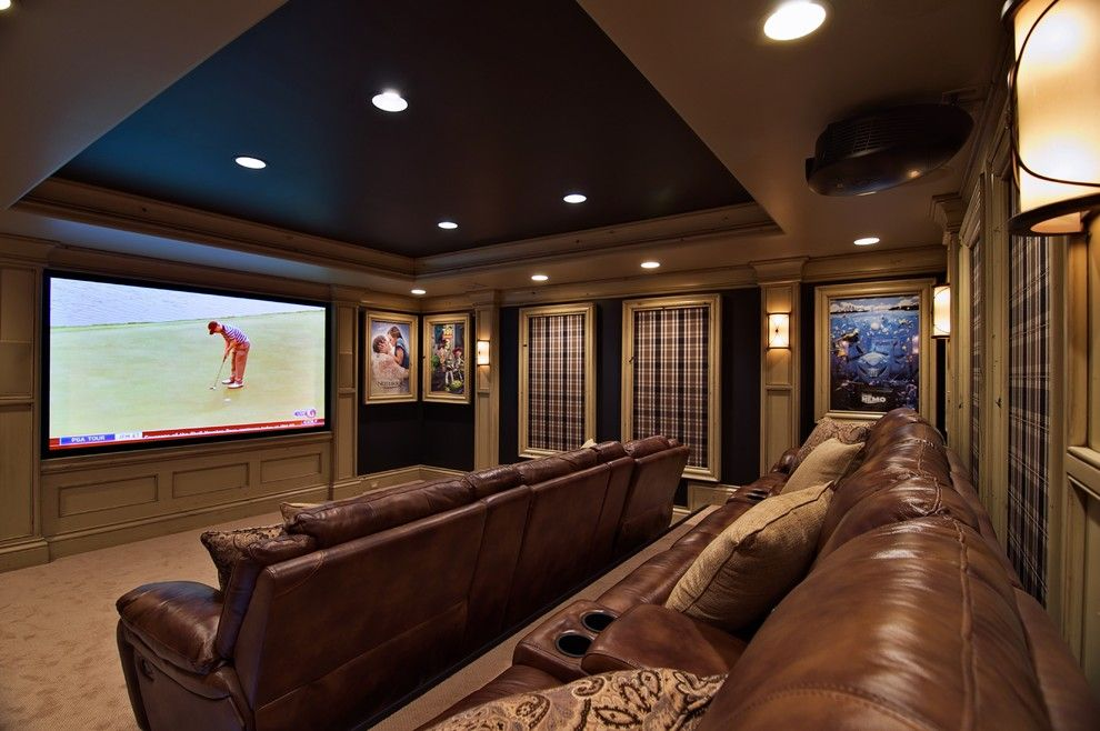 Murfreesboro Movie Theater for a Traditional Home Theater with a Traditional and Theater Room by Dan Waibel Designer Builder