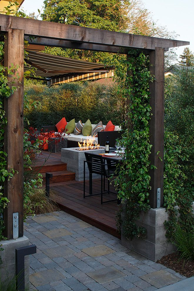 Must See in San Francisco for a Contemporary Deck with a Orange Outdoor Pillow and Healdsburg Transformation by Amy A. Alper, Architect