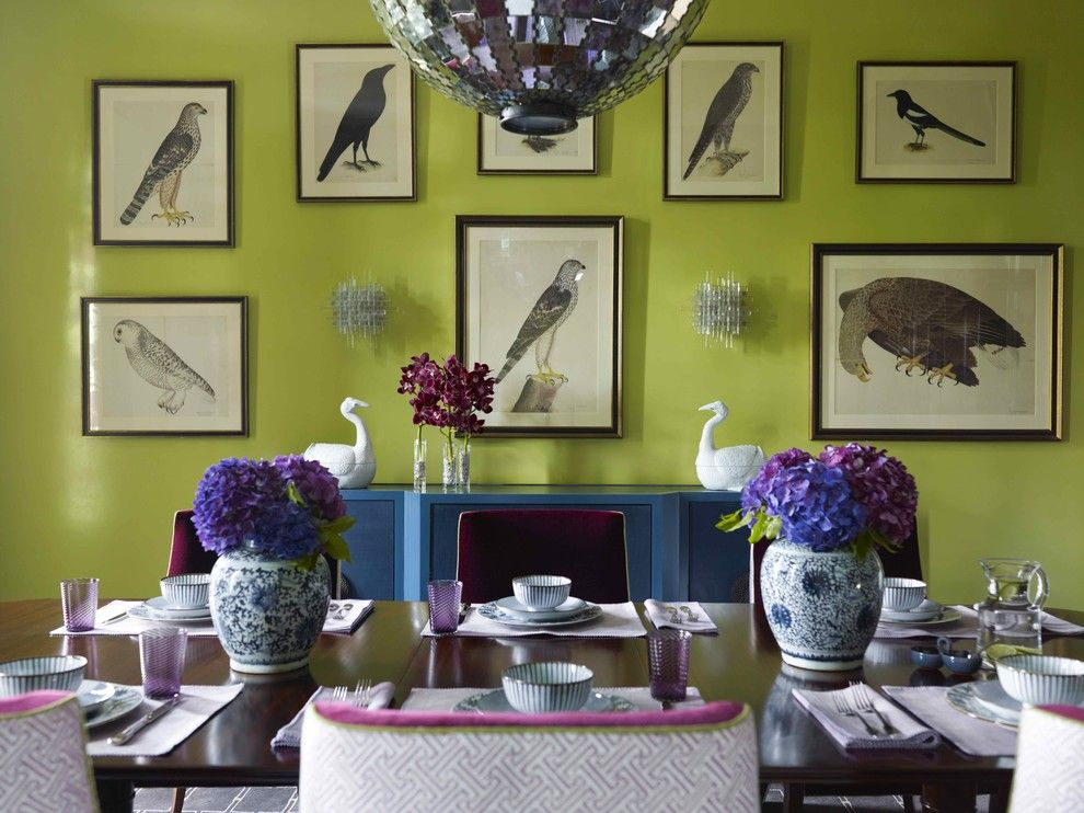Must See in San Francisco for a Contemporary Dining Room with a Prints and Katie Ridder Rooms by Vendome Press