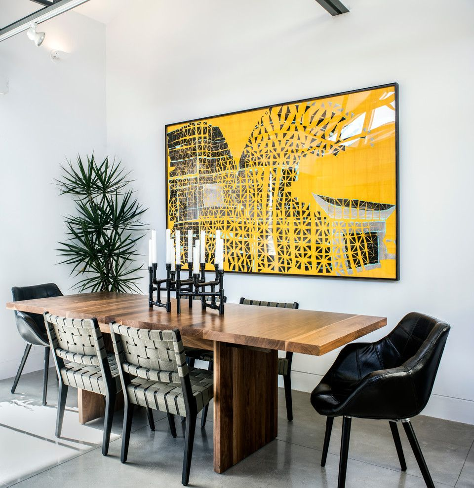 Must See in San Francisco for a Contemporary Dining Room with a Track Lighting and Corona Heights Residence by Gath Interior Design