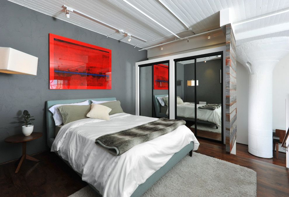 Mythic Paint for a Industrial Bedroom with a White Paneled Ceiling and Loft by Jrrider1