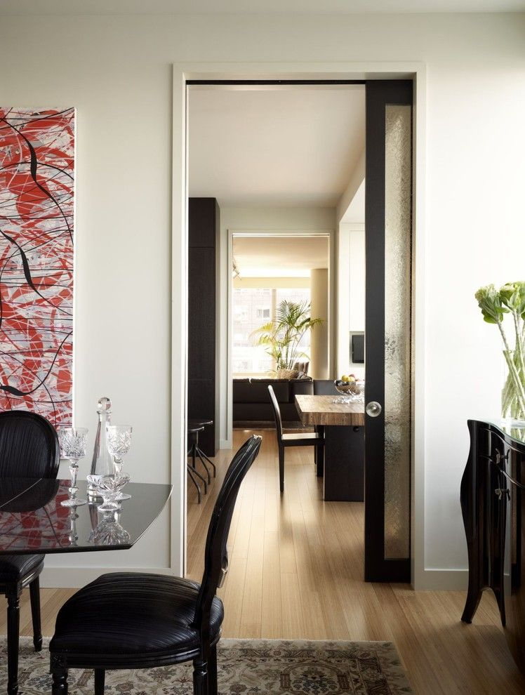 Nanz for a Contemporary Dining Room with a Area Rug and Riverhouse Enfilade by Incorporated