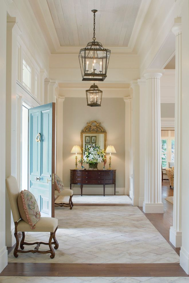 Nanz for a Traditional Entry with a Table Lamp and Georgia Greek Revival by Historical Concepts
