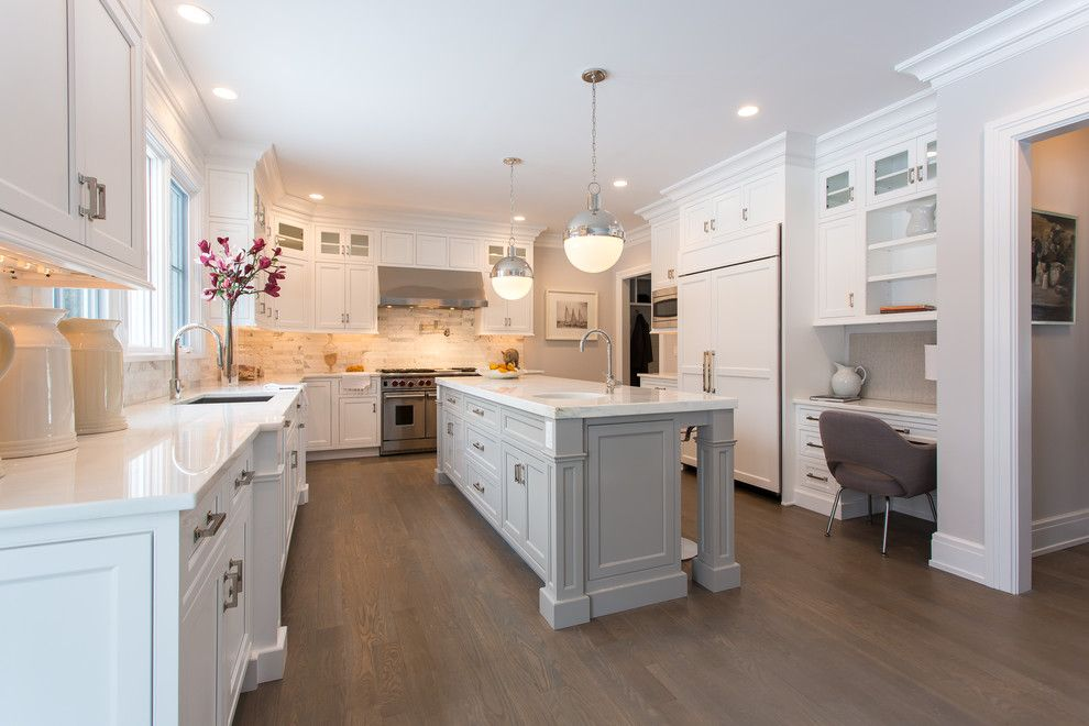 Nanz for a Transitional Kitchen with a Arm Chair and Bumble Bee Kitchen by Sir Development