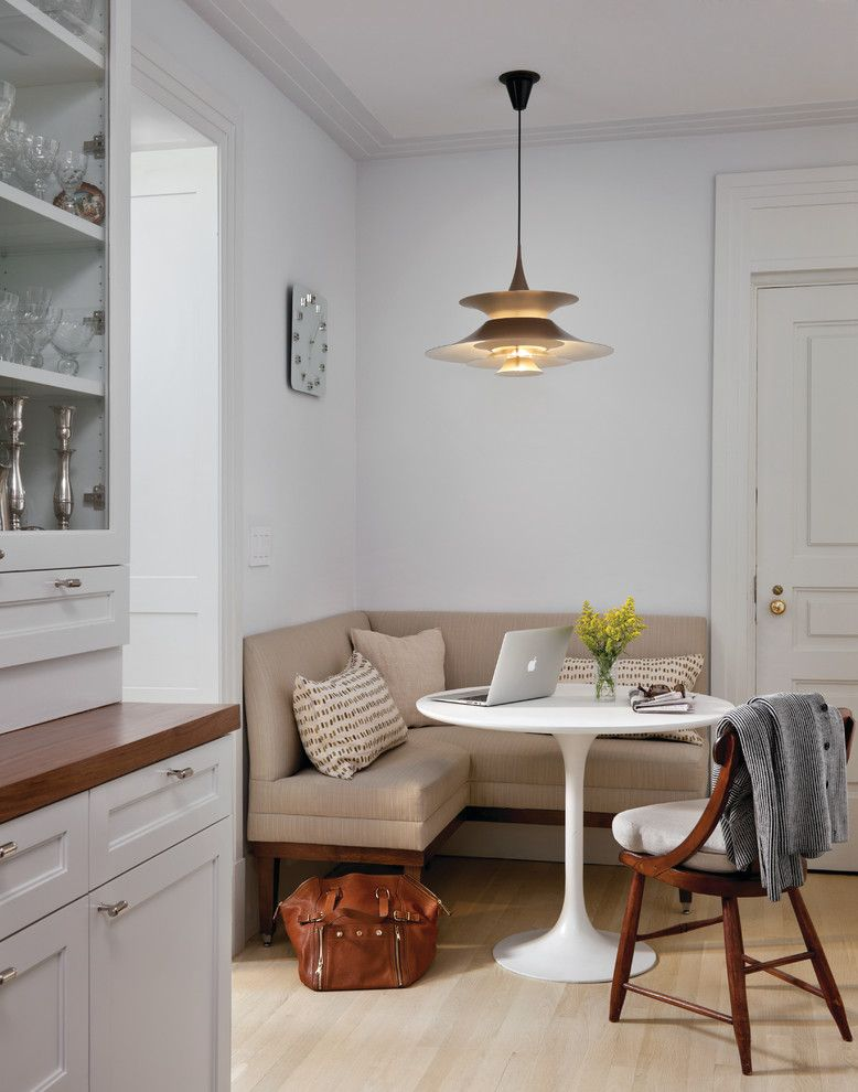 Nanz for a Transitional Kitchen with a White Kitchen Cabinet and El Dorado by Best & Company