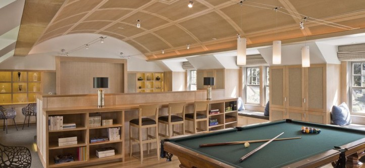 Napa Century Theater for a Contemporary Family Room with a Barrel Vault Ceiling and Sea Glass by Siemasko + Verbridge