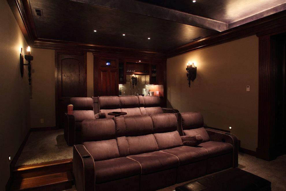 Napa Century Theater for a Mediterranean Home Theater with a Home Theater Furniture and Tuscan Villa by Century Stereo
