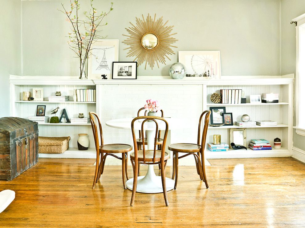 Nba Hardwood Classics for a Eclectic Dining Room with a Mantel Art and the Everygirl by Cynthia Lynn Photography