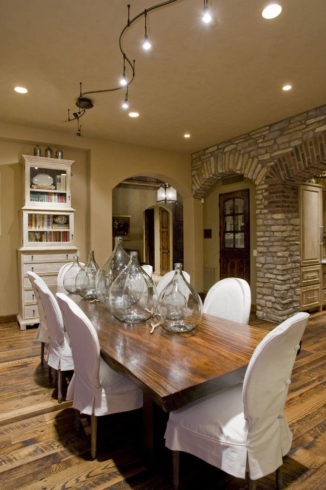 Nba Hardwood Classics for a Mediterranean Dining Room with a Stone Arch and Contemporary Dining Room by Hillisbolte.com