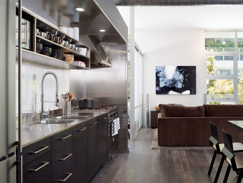 Nba Hardwood Classics for a Modern Kitchen with a Open Shelving and Gallery Loft by Incorporated