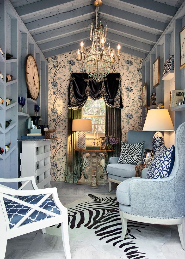 Ne Furniture Mart for a Eclectic Living Room with a Blue Armchairs and Differentiating Special Spaces of a Home by Knotting Hill Interiors