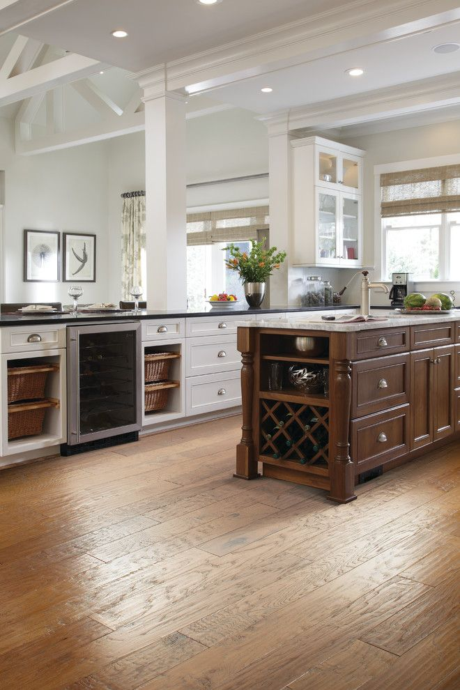 Nebraska Furniture Mart Hours for a Traditional Kitchen with a Medium Hardwood Flooring and Kitchen by Carpet One Floor & Home
