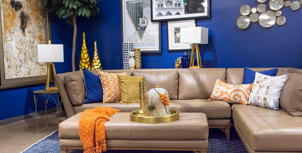 Nebraska Furniture Mart Omaha Ne for a  Spaces with a Navy and Indigo Trend by Nebraska Furniture Mart   Omaha