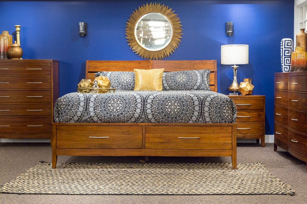Nebraska Furniture Mart Omaha Ne for a  Spaces with a Wood Chandelier and Indigo Trend by Nebraska Furniture Mart   Omaha