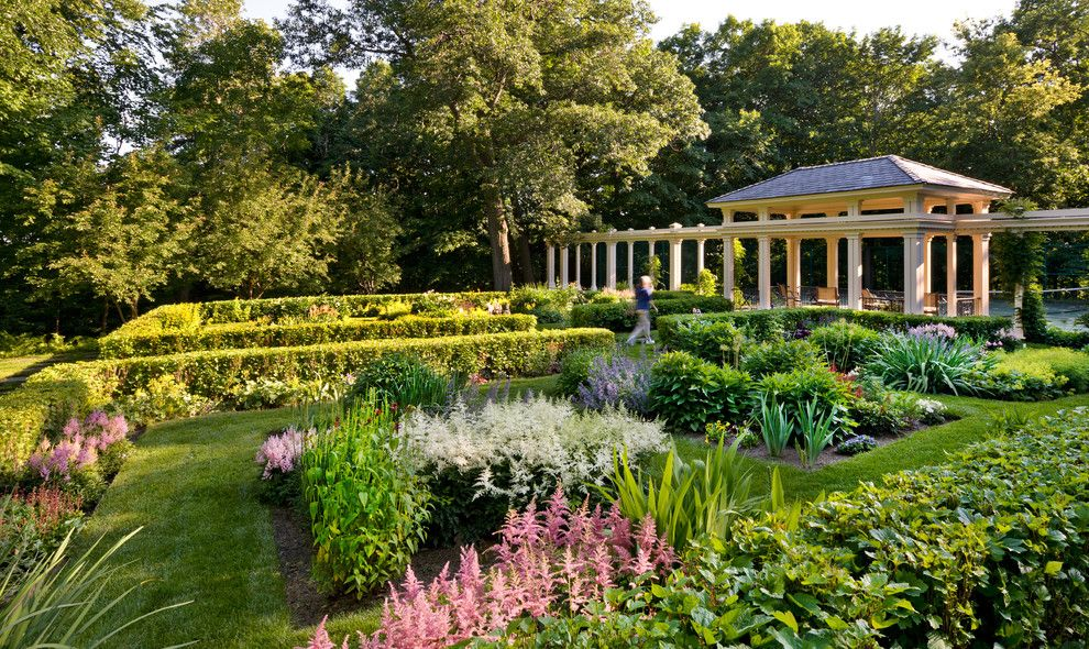 Needham Garden Center for a Traditional Landscape with a Mass Planting and Orono Estate by Windsor Companies