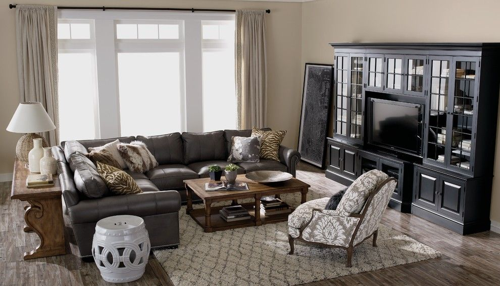 Needham Garden Center for a Traditional Living Room with a White Garden Stool and Ethan Allen by Ethan Allen