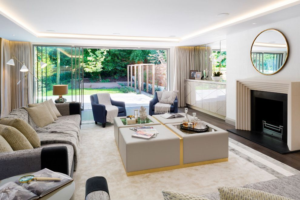 Needham Garden Center for a Transitional Living Room with a 3 Light Floor Lamp and Hampstead Villas by Lucia Caballero Interior Design