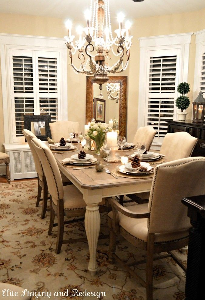 Neiman Marcus Cake for a Traditional Dining Room with a Taupe and Morris County Design Project by Elite Staging and Redesign, Llc