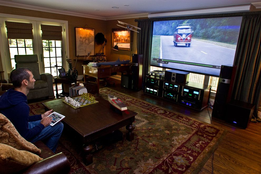 New Braunfels Theater for a Eclectic Home Theater with a Custom Home Theater and New Jersey Residence by Cloud9 Smart