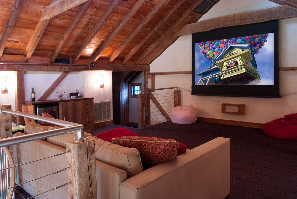 New Braunfels Theater for a Traditional Home Theater with a Loft Style and Buckingham Residence by Wolstenholme Associates, Llc