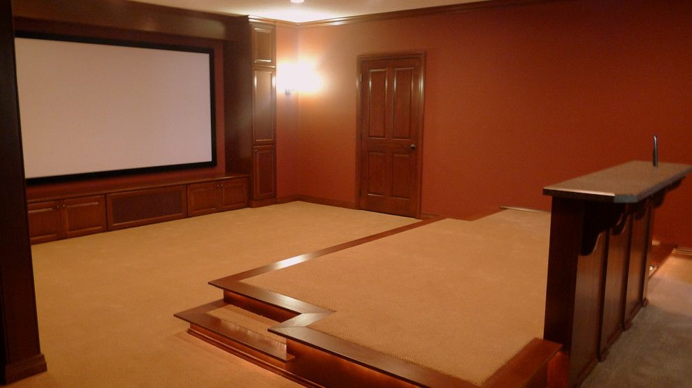 New Canaan Movie Theater for a Traditional Home Theater with a Traditional and Theater Room by Denlinger Construction Services, Inc.