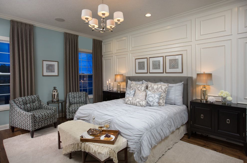 New Orleans La Points of Interest for a Transitional Bedroom with a White and Tartan Ridge   Kavanaugh by Mary Cook
