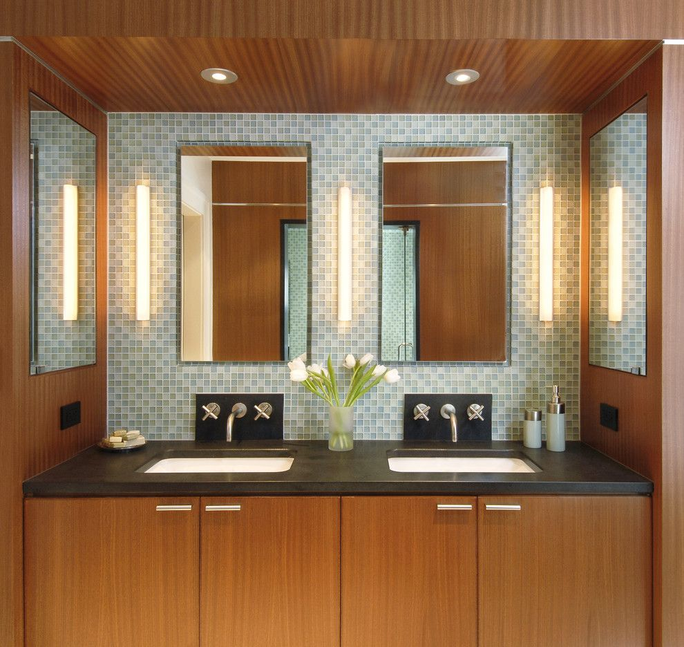 Nichols Hills Ok for a Contemporary Bathroom with a Builtin and Rockwood Street by Oak Hill Architects