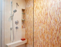 Nichols Hills Ok for a Contemporary Bathroom with a Shower Nook and Bathrooms by Mark Nichols Modern Interiors